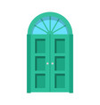 entrance door front view homes and buildings vector image vector image