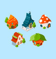 fairytale house isometric fantasy buildings for vector image vector image