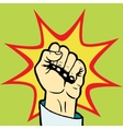 Fist hand pop art style vector image vector image