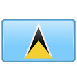 Flags Saint Lucia in the form of a magnet on vector image vector image