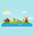 Flat Countryside vector image