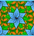 flat flower elements design seamless floral vector image vector image