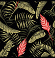 floral seamless pattern tropical flowers hawaiian vector image vector image