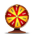 fortune wheel luck sign gamble chance vector image vector image