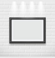 frame on wall modern picture frame for painting vector image vector image
