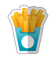 french fries potato icon vector image