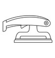 fret saw icon outline vector image vector image