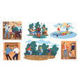 friends on vacation people spending time together vector image