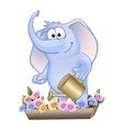 funny elephant vector image vector image