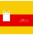 Gift box on narrow banner vector image vector image