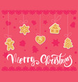 gingerbread cookies christmas set vector image vector image