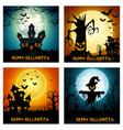happy halloween banner set vector image vector image