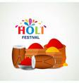 happy holi festival the festival of colors vector image