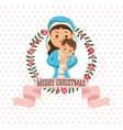 Holy Mary with baby jesus icon graphic vector image vector image