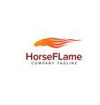 horse flame logo animals logo design concept vector image vector image