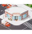 hospital buildings vector image