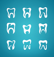 Icon painted teeth toothpaste vector image vector image