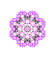 indian mandala or simple snowflake icon isolated vector image