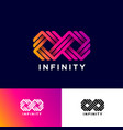 infinity logo consist some linear strip vector image vector image