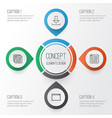 internet icons set collection of website program vector image