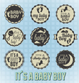 Its a Baby Boy Labels and Icons vector image vector image