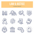 Law Justice Doodle Icons vector image vector image