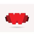 letter W emblem vector image vector image