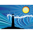 Lighthouse in the Sea vector image vector image