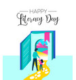 literacy day book imagination for children concept vector image vector image