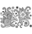 mehndi doodle elements set graphic collection vector image