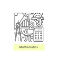 Modern thin line icons of mathematics vector image