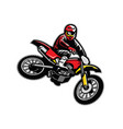 motocross jumping vector image vector image