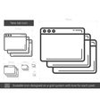 New tab line icon vector image