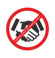 no handshake icon vector image vector image