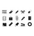 office equipment icon stationary business items vector image