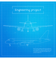 plane Engineering aircraft blueprint background vector image vector image