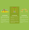 playground colorful set posters vector image vector image