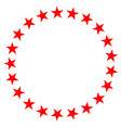 red star in circle icon on white background flat vector image vector image