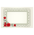 roses vintage square shape frame and border vector image vector image
