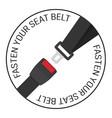 safety belt vector image vector image