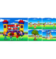 scenes with children in playground vector image vector image