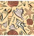 seashells seamless vector image