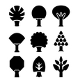 Set icons of trees vector image