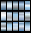 set of metal gradients vector image vector image