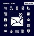shopping solid glyph icon pack for designers and vector image vector image