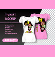 t-shirt mockup with africa in two colors mockup vector image vector image