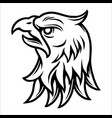 tattoo concept strong eagle head vector image vector image