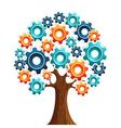 Tecnology engine tree vector image vector image