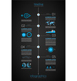 timeline to display your data in order vector image vector image