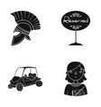 tourism history sport and other web icon in vector image
